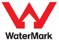 WaterMark Product logo - large red coloured letter W